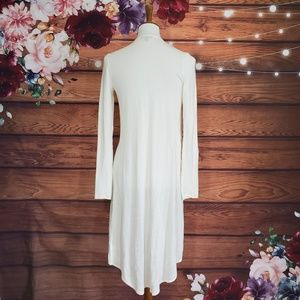 Express Sweaters - Express Ivory Knit Duster